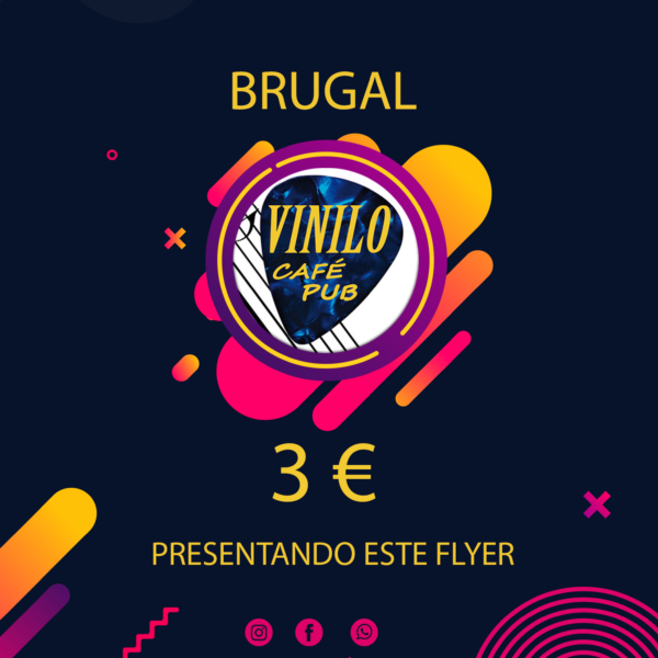 flyer brugal vinilo