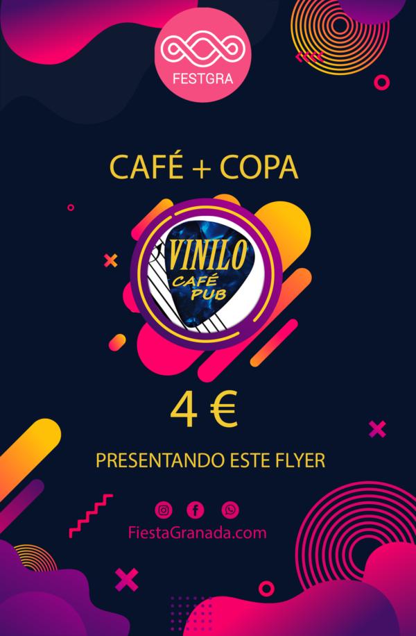 flyer cafe+copa vinilo